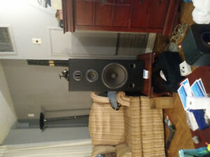 technics tower speakers with custom stands