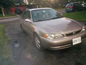 2 for 1. 2000 Toyota corolla & complete running parts car