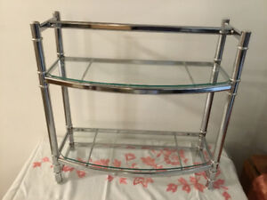 Two tier shelf. Chrome