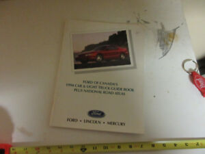 1994 FORD OF CANADA CAR/LIGHT TRUCK GUIDE BOOK & ATLAS