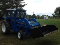 Ford 3000 with loader and cab(only 2953 hrs)