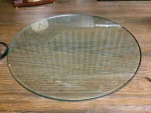 round  and rectangular glass table top or table cover