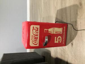 """Mini coke fridge 19"""" tall  by 10"""" wide"""