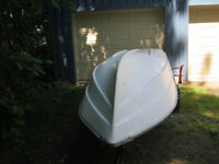 Canot Grand Mere 14 ft boat fishing, recreational uses
