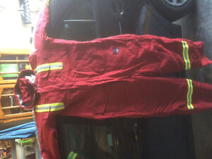Fire retardant winter parka and coveralls