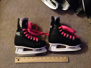 Black CCM Champion 90 skates for kids size 9