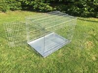 """Ellie Bo Silver Dog Cage/ Crate, 42"""", Collapsable"""