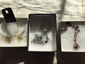 NEW IN BOX EARRINGS, CHAINS, BRACLETS