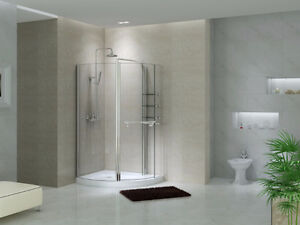 """Shower Enclosure CF5241, Chrome 48"""" (Base Included)"""