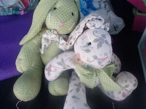 2 STUFFED BUNNIES--NEW!!