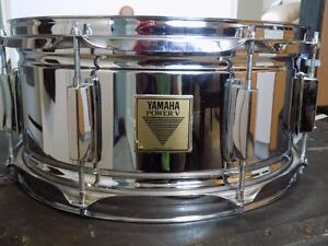 """YAMAHA (MADE IN ENGLAND) 6.5 x 14"""" SNARE DRUM AND PADDED BAG"""