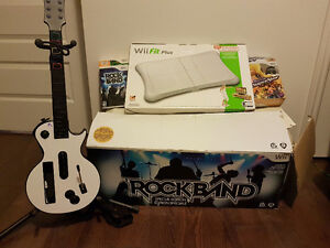 Wii + Rock Band + Wii Fit