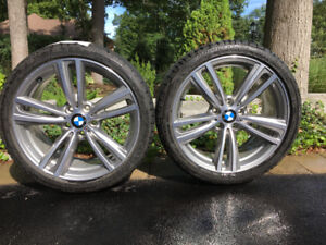 BMW 430i rims and summer tires.  One summers use. Excellent cond