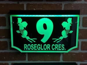 House Home Address Sign! LED GENTRY STYLE & LUMA STYLE