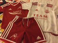 Aberdeen F.C. kids extra small football strips