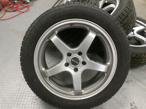 """Tenzo R Tracer wheels and tires 18"""" 5x114.3 / 5x4.5"""
