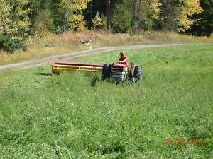 Massey Ferguson and haying equipment; wood splitter