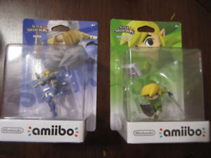 Smash Bros Legend of Zelda amiibos