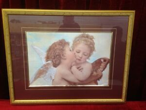 The First Kiss Framed Print by William-Adolph Bouguereau