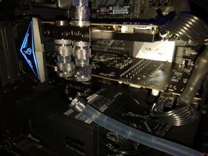 SLI MSI 1070 TI Titanium water!!!/Échange contre RTX 2080!!!