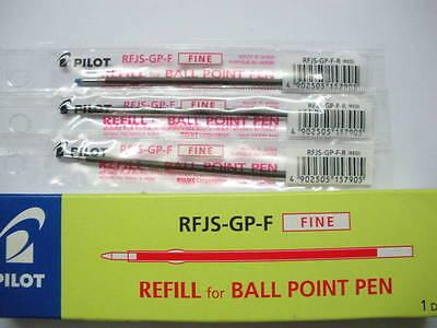 12 Refill Set Pilot Rfjs-gp-f 0.7mm Fine Ball Point Pen For Super Grip Pen Rd