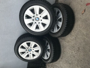 4 WINTER TIRES 205/55/R16 RunFlats, Studded ALMOST BRAND NEW!!