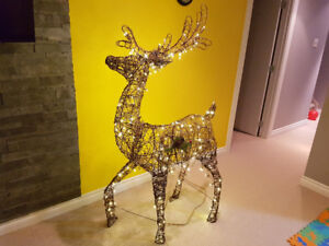 Christmas decorations , deer with lights