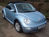 2005 05 Plate Volkswagen Beetle Convertible 1.6 In Sky Blue