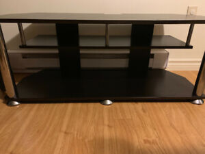 tv stand can hold up to 50'  inch tv.  45$ halifax area