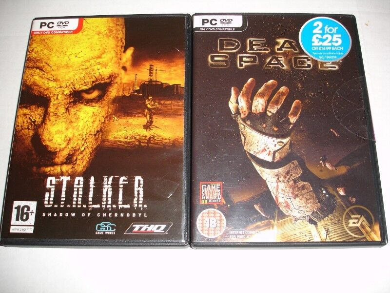 TWO  PC DVD GAMES STALKER  Shadow of Chernobyl /DEAD SPACE