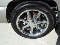 22 INCH  6 BOLT RIMS FOR CHEVY / GMC