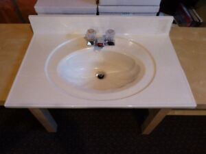 Sink with taps and drain