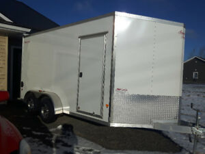 REDUCED...Brand New 2017 7x14 Alloy Enclosed Trailer - Ramp Door