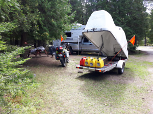 2003 BMW F650 GS Motorcycle with 12ft enclosed toy haulertrailer
