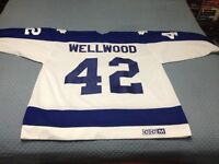 Customized Authentic Kyle Wellwood Leafs 1980's Home Jersey