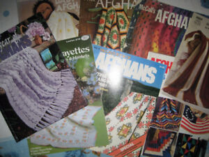 Lot of 8 Older Afghan Pattern Books Knit and Crochet