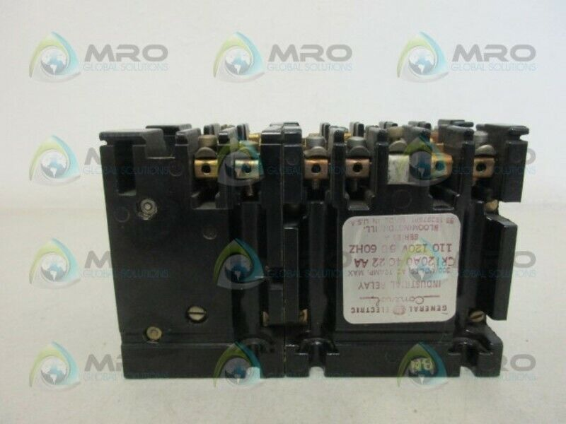 GENERAL ELECTRIC CR120A04022AA INDUSTRIAL RELAY *USED*