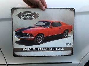 Ford Mustang Fastback Metal Sign