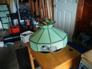 Stained glass light fixture.