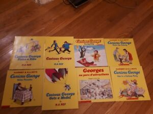 Curious George Books English/French Scholastic