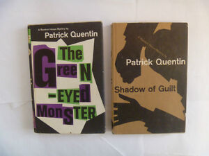 PATRICK QUENTIN Hardcovers - 4 to choose from