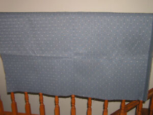 Unused Blue Upholstery Fabric For Sewing Projects Like New