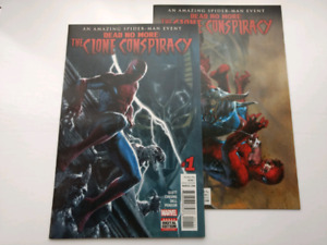Amazing Spider-Man: Clone Conspiracy #1 & 3 covers by Dell' Otto