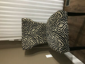 Two  Beautiful  chairs with zebra pattern