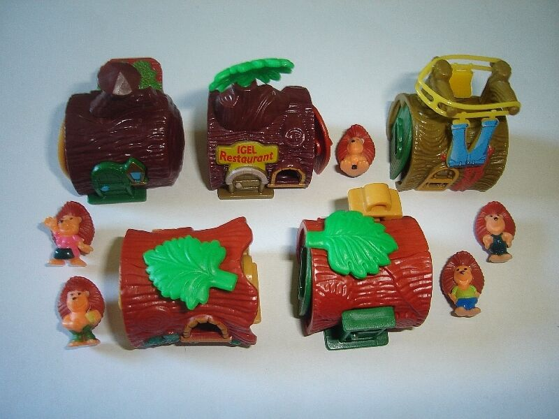 KINDER SURPRISE SET - HEDGEHOGS WITH HOUSES 2001 - FIGURES TOYS COLLECTIBLES