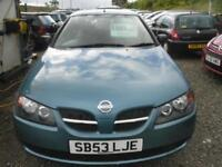 2003 NISSAN ALMERA 1.5 S 5dr BEING MOTD TODAY TRADE IN TO CLEAR