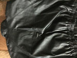 REDUCED - Men's Black Leather Jacket Cambridge Kitchener Area image 2