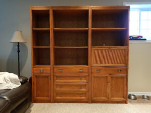 Bookcase - 3 Piece with Drawers