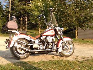 Modified 1999 Harley-Davidson, Heritage Softail , aztec orange