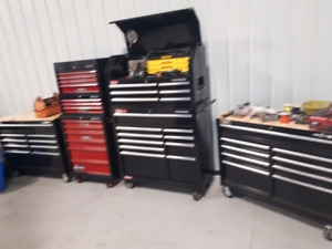 Heavy equipment diesel mechanic tools and tool boxs